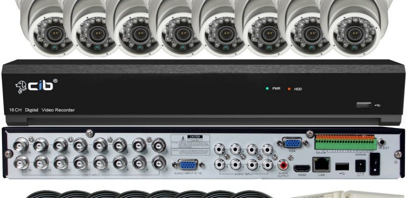8 Camera System Expandable to 16 Cameras – Includes 8 Dome Cameras